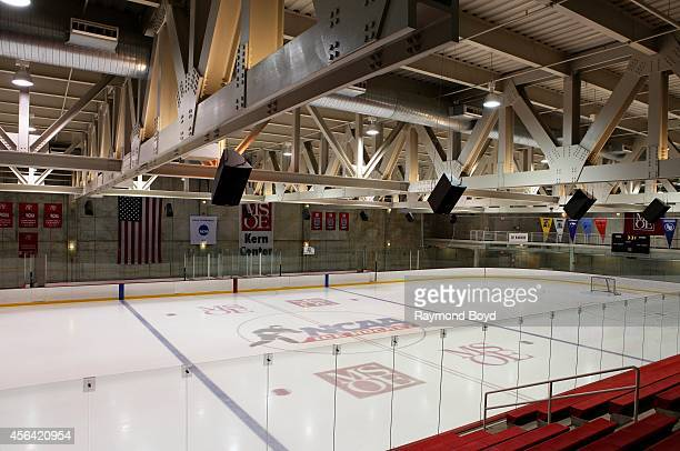 Milwaukee School Of Engineering's hockey rink inside the Kern Center during the Fourth Annual Doors Open Milwaukee on September 21 2014 in Milwaukee...