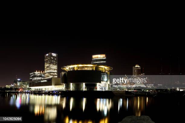 Milwaukee Skyline photographed from the lakefront in Milwaukee Wisconsin on September 13 2018