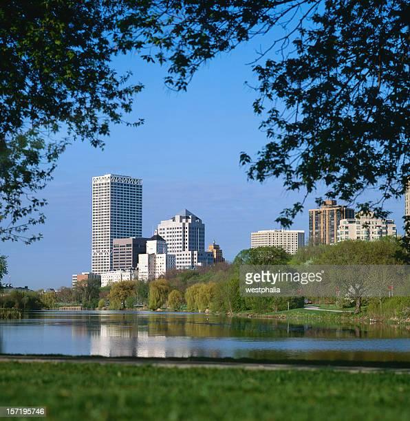 Milwaukee Skyline through the Trees