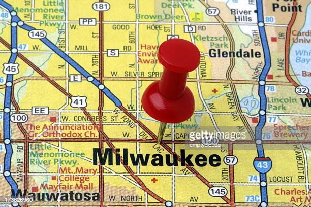 Milwaukee, Wisconsin on a map.