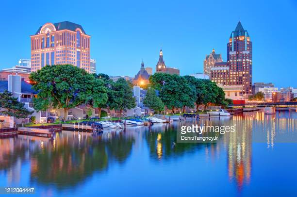 milwaukee, wisconsin waterfront - wisconsin stock pictures, royalty-free photos & images