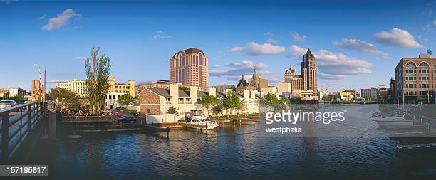 milwaukee wisconsin,looking down the canal - iron_county,_wisconsin stock pictures, royalty-free photos & images