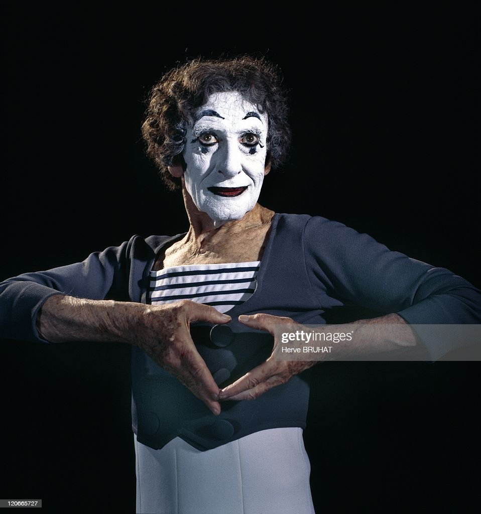 Mime Artist Marcel Marceau - : Nachrichtenfoto