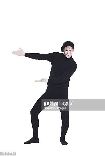 mime gesturing - mime stock photos and pictures