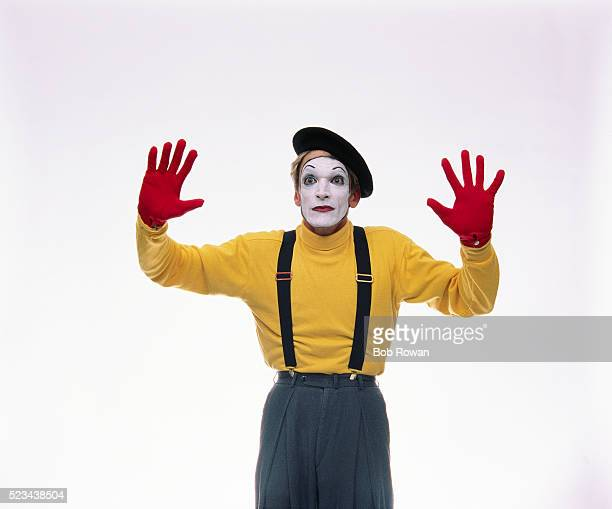 mime in invisible box - mime stock photos and pictures