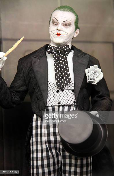 1989 mime joker - jack nicholson photos stock pictures, royalty-free photos & images