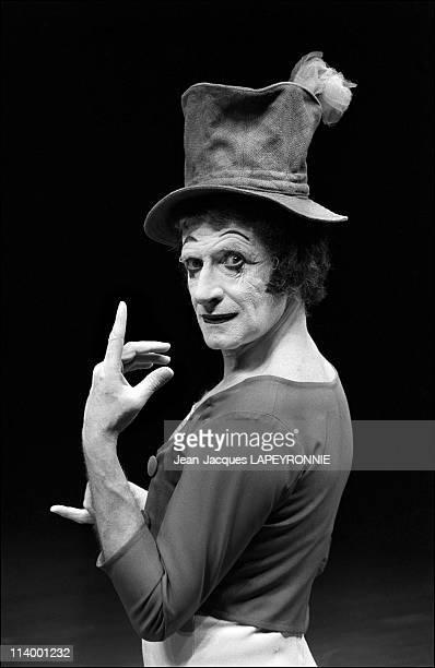 Mime Marceau on scene in Paris France in November 1978