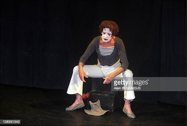Mime Marcel Marceau in Paris France on april 19 1997