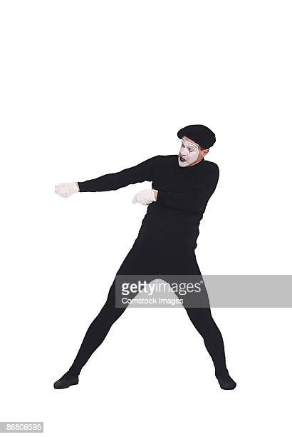 Mime pulling