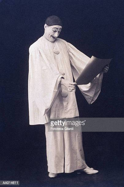 Mime Reading a Paper