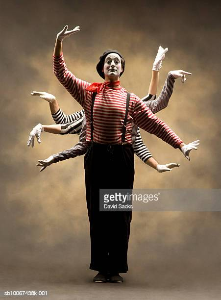 mime with multiple pairs of arms - shiva stock pictures, royalty-free photos & images