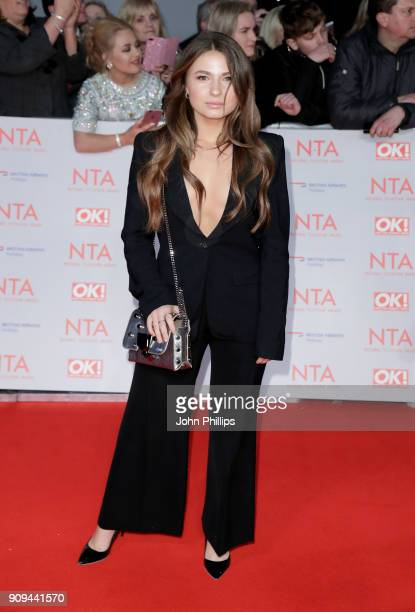 Mimi Bouchard attends the National Television Awards 2018 at the O2 Arena on January 23 2018 in London England