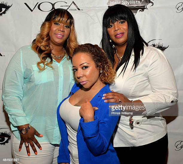 """Mimi Carpenter, Tameka """"Tiny"""" Harris and Shante Trynham attend """"The Real Hairstylists of Atlanta"""" press conference at W Hotel, Buckhead on April 14,..."""