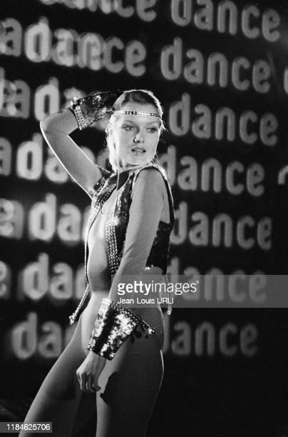 Mimi Coutelier lors d'une soirée disco au TNP pendant le tournage du film 'Je te tiens tu me tiens par la barbichette' réalisé par Jean Yanne à Paris...