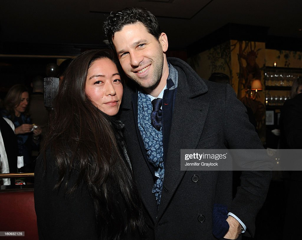 Mimi Fukuyoshi and Matt Singer attend the Band Of Outsiders Fashion Week Mens Collection After Party held at the Monkey Bar on February 7, 2013 in New York City.