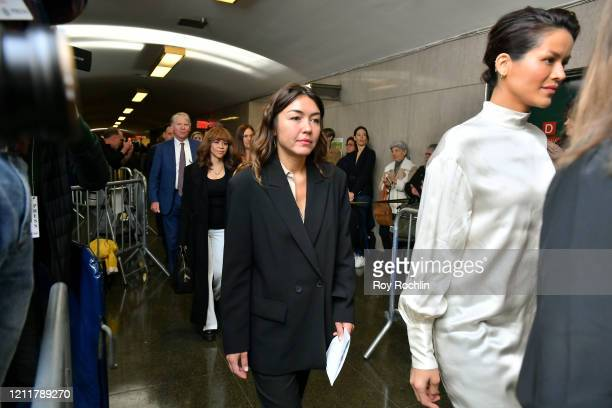 Mimi Haleyi walks into the courtroom for sentencing of movie mogul Harvey Weinstein on March 11 2020 in New York City Haleyi is one of two women who...