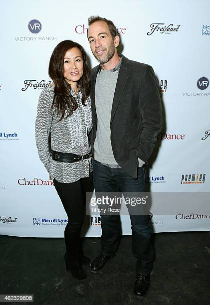 Mimi Kim and Bryan Callen attend ChefDance 2015 presented by Victory Ranch and sponsored by Merrill Lynch, Freixenet, Anchor Distilling, and Premier...
