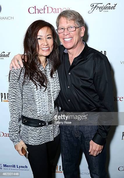 Mimi Kim and Kenny Grisworld attend ChefDance 2015 presented by Victory Ranch and sponsored by Merrill Lynch Freixenet Anchor Distilling and Premier...