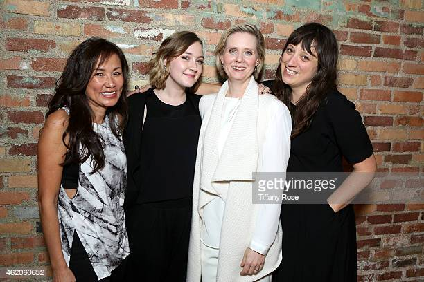 Mimi Kim, Saoirse Ronan, Cynthia Nixon and Nikole Beckwith attend ChefDance 2015 Presented By Victory Ranch And Sponsored By Merrill Lynch,...