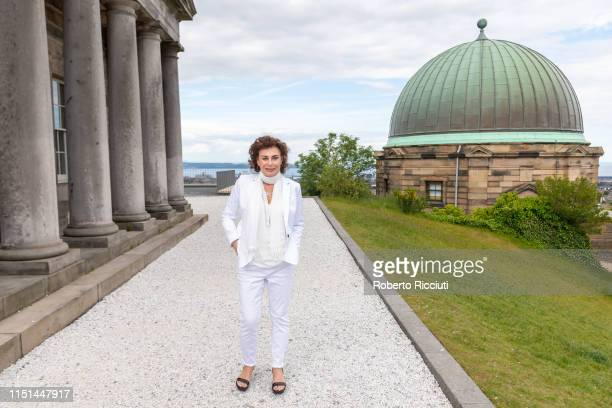 Mimi Kuzyk attends a photocall for the World Premiere of 'Astronaut' during the 73rd Edinburgh International Film Festival at The City Observatory...