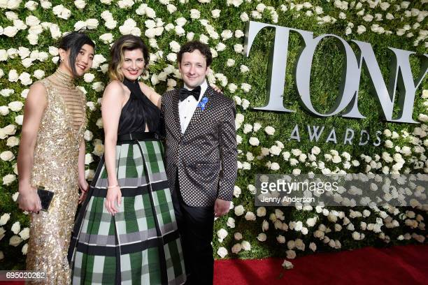 Mimi Lien Paloma Young and Bradley King attend the 2017 Tony Awards at Radio City Music Hall on June 11 2017 in New York City