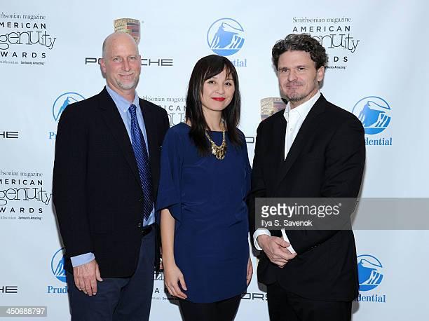 Mimi Lok and Dave Eggers attend Smithsonian Magazine's 2013 American Ingenuity Awards on November 19 2013 in Washington DC