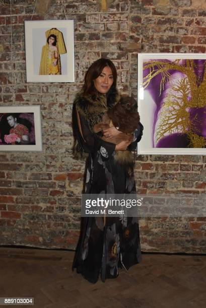 Mimi Nishikawa attends a private view of 'Art Alika' curated by Quite Useless Art and Abraham Sassoon Munns on December 9 2017 in London England