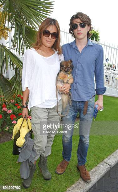 Mimi NishikawaBailey and Sascha NishikawaBailey attend Ladies Day of the 2017 Investec Derby Festival at The Jockey Club's Epsom Downs Racecourse at...