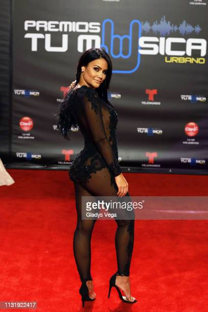 Mimi Pabon arrives to Premio Tu Musica Urbano at Coliseo Jose M Agrelot on March 21 2019 in San Juan Puerto Rico