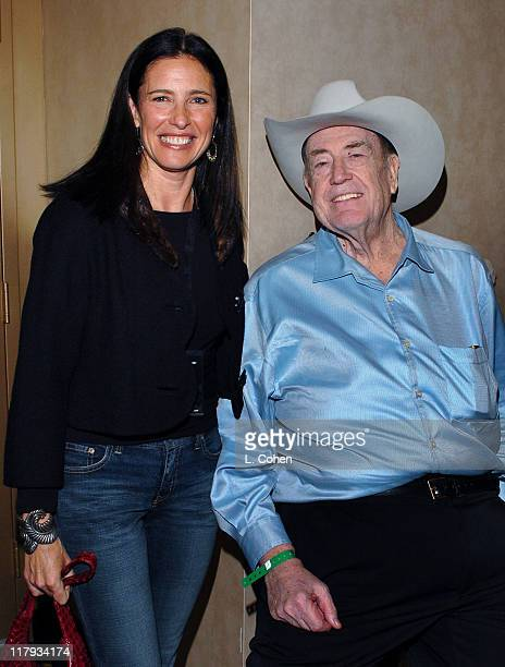 Mimi Rogers and Doyle Brunson during 2005 World Poker Tour Invitational Inside at Commerce Casino in City of Commerce California United States