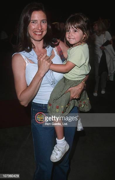 Mimi Rogers and Lucy Rogers-Chiaffa during Ringling Bros. Circus Opening Night Benefit for Make-a-Wish Foundation - July 2, 1998 at Sports Arena in...
