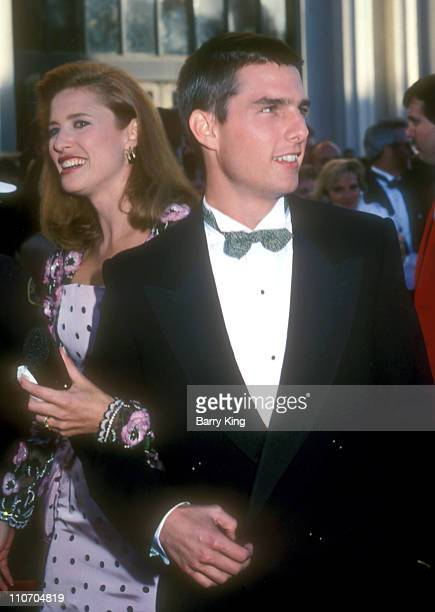 Mimi Rogers and Tom Cruise during 61st Annual Academy Awards Arrivals at Shrine Auditorium in Los Angeles California United States