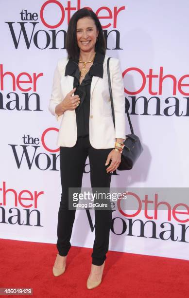 Mimi Rogers arrives at the Los Angeles premiere of 'The Other Woman' at Regency Village Theatre on April 21 2014 in Westwood California