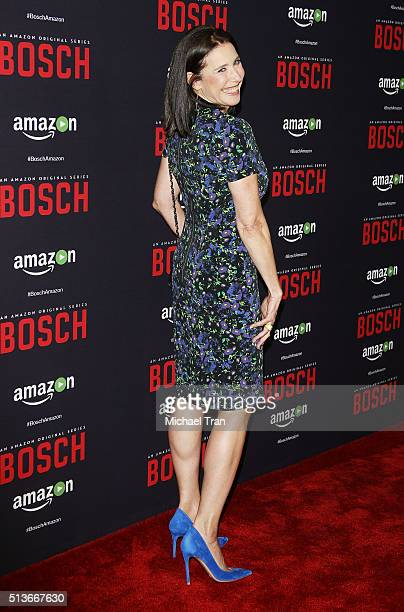 """Mimi Rogers arrives at the premiere of Amazon's """"Bosch"""" season 2 held at SilverScreen Theater at the Pacific Design Center on March 3, 2016 in West..."""