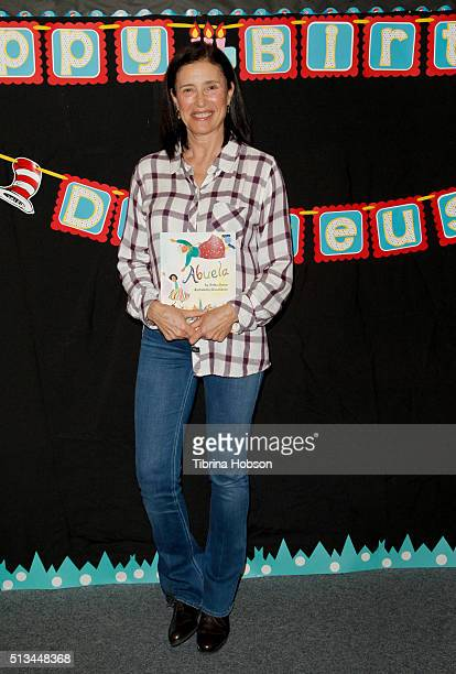Mimi Rogers attends the Read Across America event at Lindbergh Elementary School on March 2 2016 in Lynwood California