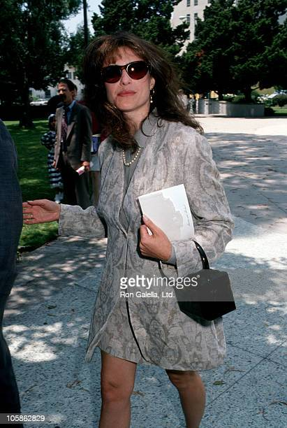 Mimi Rogers during Marina Sirtis Michael Lamper's Wedding at St Sophia Cathedral in Los Angeles California United States
