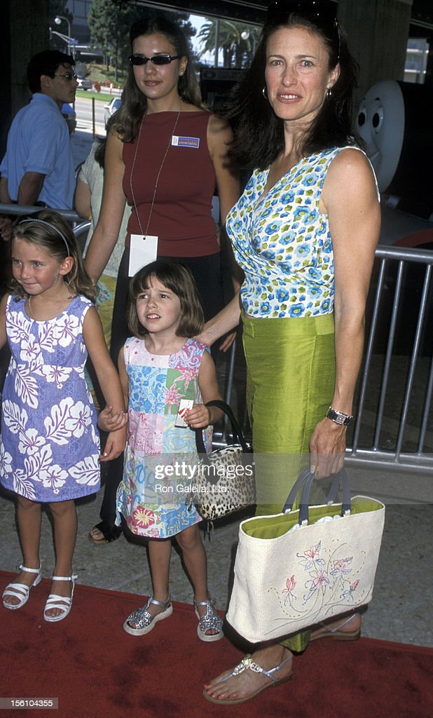 Mimi Rogers, Lucy Rogers-Chiaffa and niece during 'Thomas and the Magic Railroad' Premiere at Cineplex Odeon Century Plaza Cinema in Century City, California, United States.