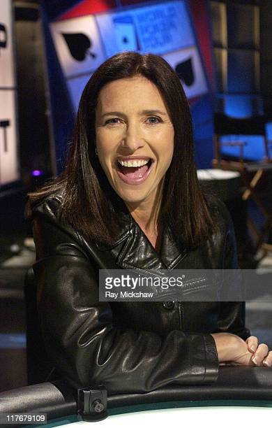 Mimi Rogers plays in the World Poker Tour Hollywood Home Game which airs on the Travel Channel