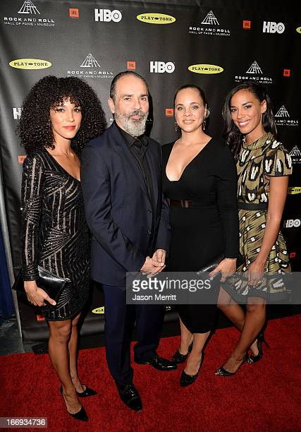 Mimi Sommer Bruce Sudano Amanda Sudano and Brooklyn Sudano arrive at the 28th Annual Rock and Roll Hall of Fame Induction Ceremony at Nokia Theatre...
