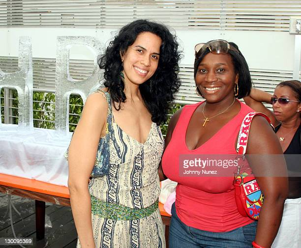 Mimi Valdez and Beverly Smirh of Vibe Magazine during 2005 MTV VMA John Singelton Party Hosted by DJ Biz Markie and Snoop Dogg at Sanctuary Hotel in...