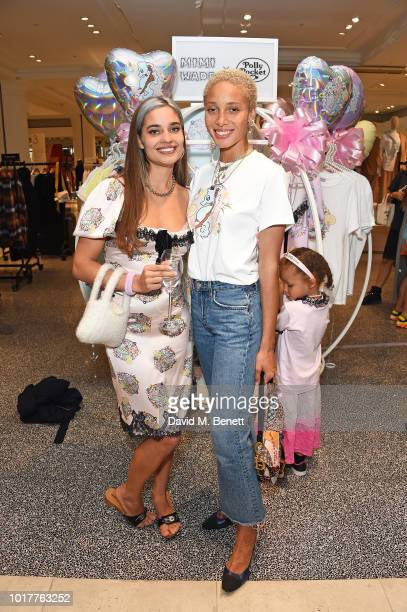 Mimi Wade and Adwoa Aboah attend the Polly Pocket x Mimi Wade launch at Selfridges on August 16 2018 in London England