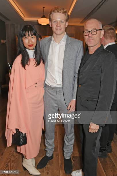 Mimi Xu Alexander Dundas and Jan Kennedy attend Alexander Dundas's 18th birthday party hosted by Lord and Lady Dundas on December 16 2017 in London...