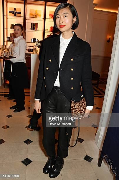 Mimi Xu attend as mytheresacom and Burberry celebrate the new MYT Woman at Thomas's on February 21 2016 in London England