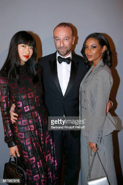 Mimi Xu director of international communication at 'Dior ParfumsBeaute' Jerome Pulis and Fanny Bourdette Donon attend the Annual Charity Dinner...