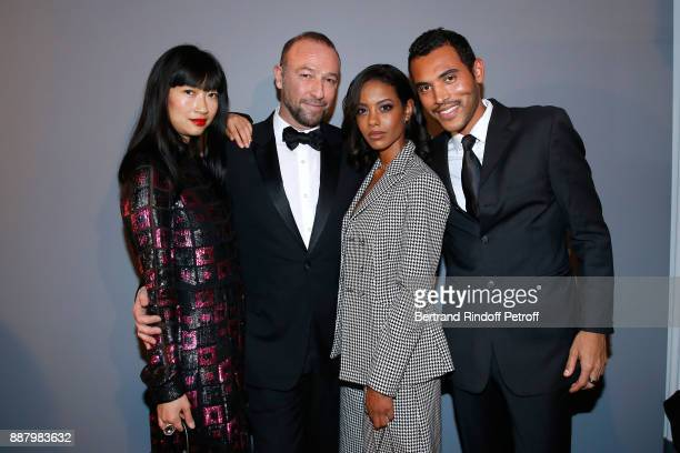 Mimi Xu director of international communication at 'Dior ParfumsBeaute' Jerome Pulis Fanny Bourdette Donon and guest attend the Annual Charity Dinner...
