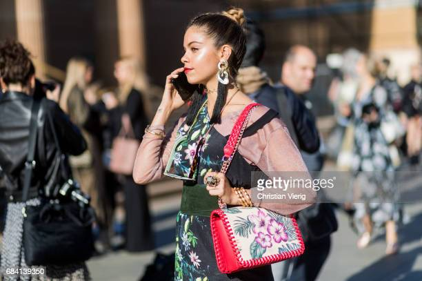 Mimie Lashiry outside Ginger Smart at day 4 during MercedesBenz Fashion Week Resort 18 Collections at Art Gallery of NSW on May 17 2017 in Sydney...