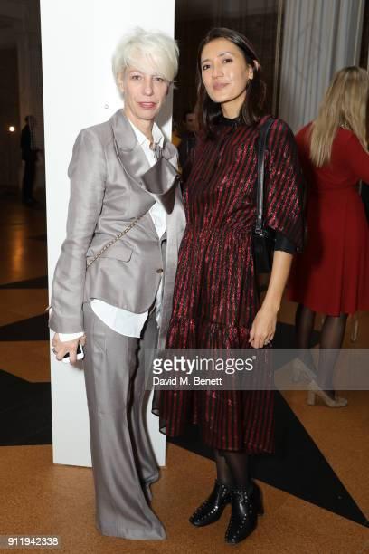 Mimma Viglezio and Hikari Yokoyama attend a gala dinner to celebrate Mona Hatoum as Whitechapel Gallery Art Icon with Swarovski at Whitechapel...