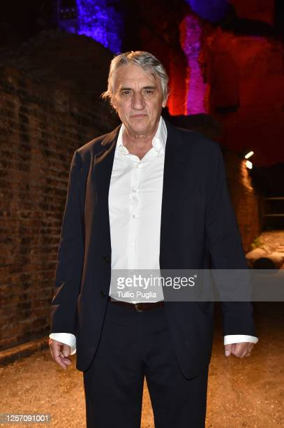 Mimmo Calopresti attends the red carpet of the closing night of the Taormina Film Festival on July 19 2020 in Taormina Italy