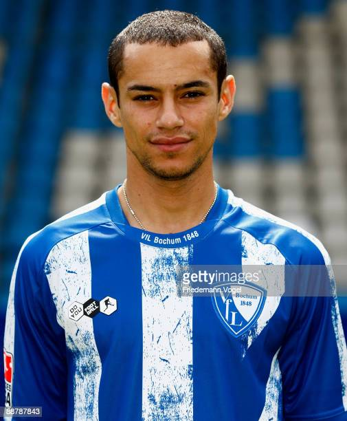 Mimoun Azaouagh poses during the VfL Bochum team presentation at the rewirpower stadium on June 29 2009 in Bochum Germany