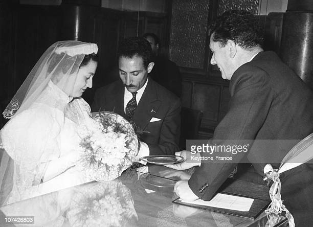Mimoun Getting Married In Champigny At Champigny In France On August 12Nd 1956